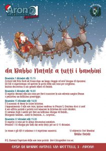 Locandina eventi natalizi bambini
